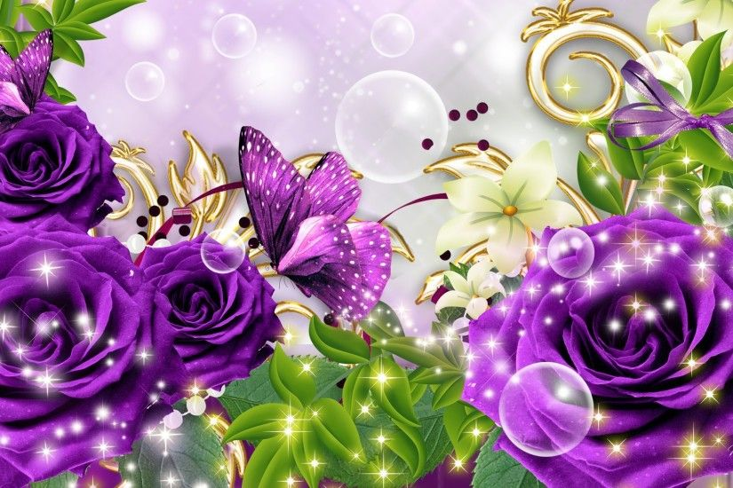 Purple Butterfly Wallpapers Photo