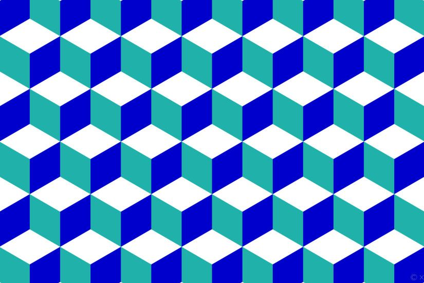 wallpaper green 3d cubes blue white light sea green medium blue #ffffff  #20b2aa #