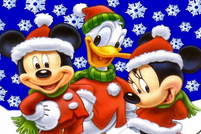 Xmas Stuff For > Disney Characters Christmas Wallpaper