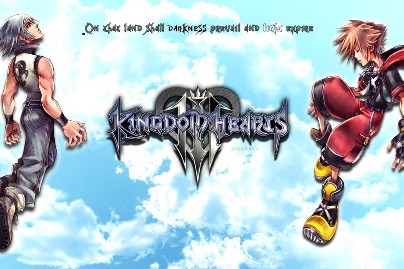 ... Kingdom hearts 3 Sora/Riku Wallpaper by static989