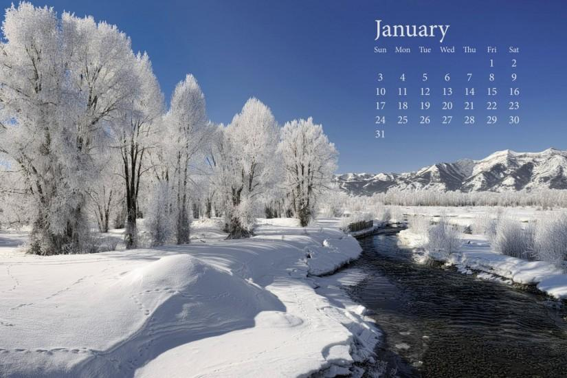 Fresh Snow January 2010 Calender Wallpapers | HD Wallpapers