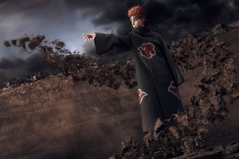 Pein, Akatsuki, Rock, 3D, Naruto Shippuuden Wallpapers HD .
