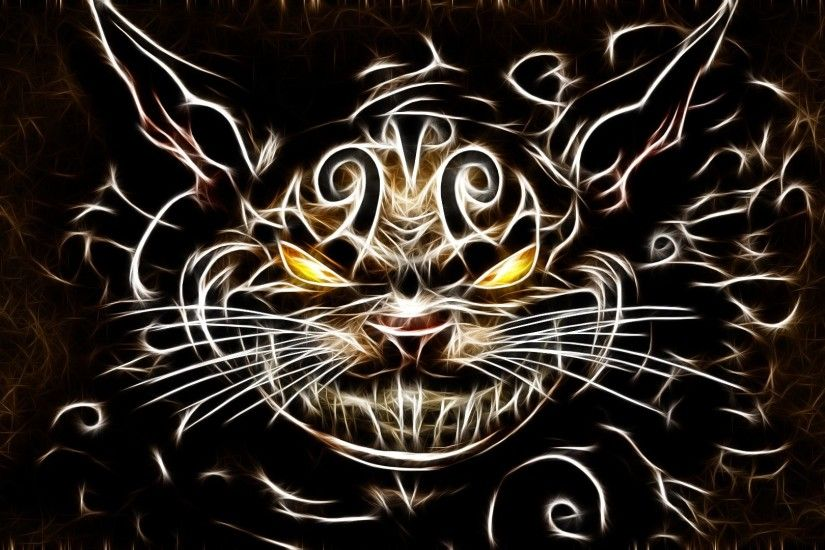 cats Fractalius Cheshire Cat American McGees Alice wallpaper .
