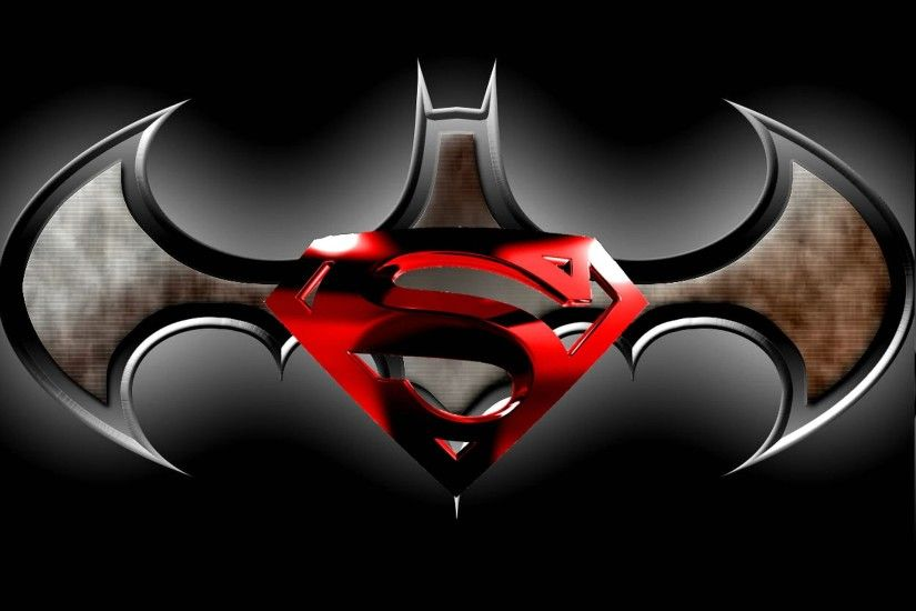 Superman And Batman Logo Wallpapers - Wallpaper Cave