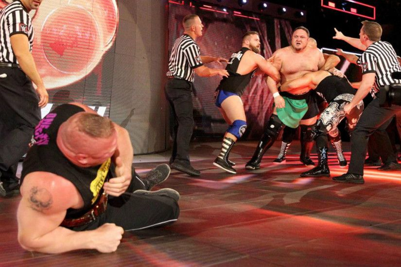 Samoa Joe Specialist ambushes Brock Lesnar two weeks before their Universal  Title clash at WWE Great Balls of Fire.