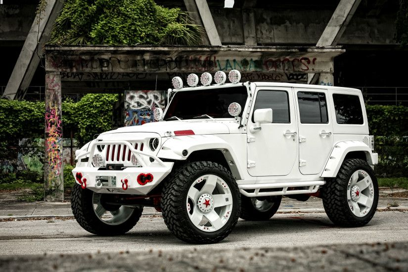 Jeep Wrangler 2015 White 4 Door Desktop Wallpapers