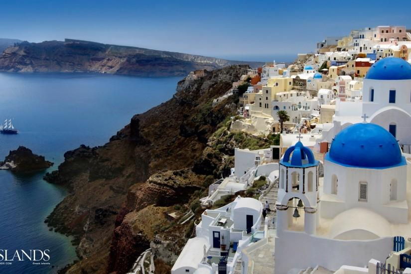 Santorini Greece Hd Wallpaper Wallpapers Backgrounds