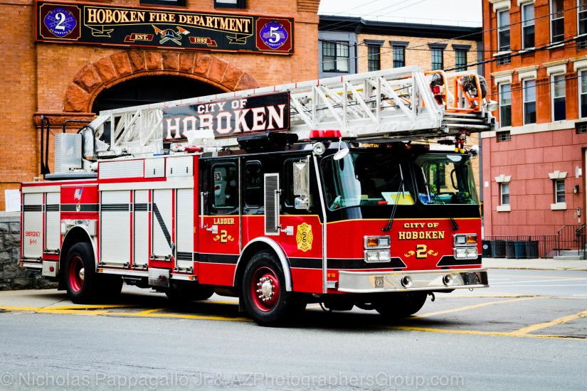"Hoboken, NJ Fire Department Ladder Truck .. Love the colors of these  ""Chicago"