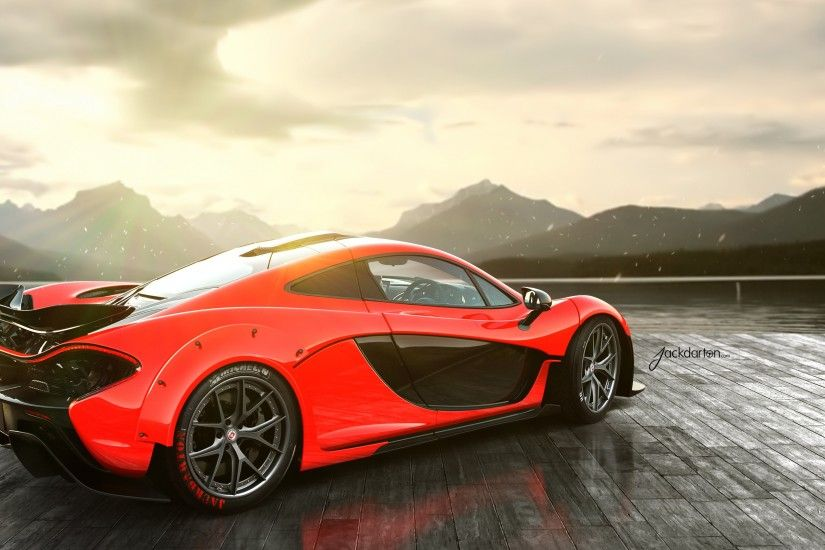 Preview wallpaper mclaren, p1, red, rear 3840x2160