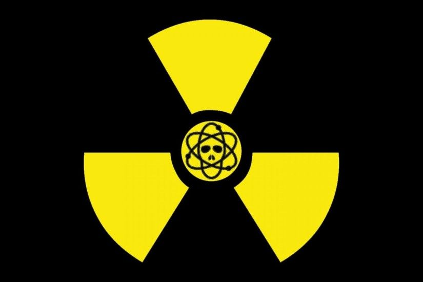 Yellow symbol radioactive radiation simple wallpaper | (32496)