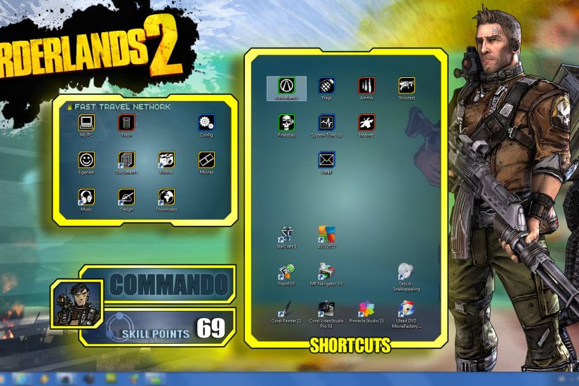 ... Borderlands 2 - Wallpapers Pack - Axton UI by mentalmars