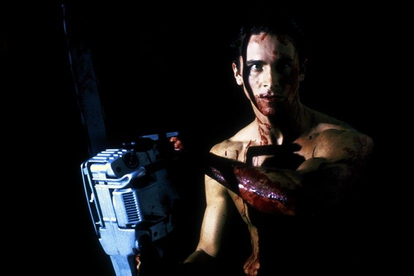 dark blood american psycho chainsaw men christian bale 1900x1259 wallpaper  Art HD Wallpaper