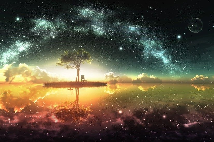 Fantasy World, Space, Sunset Wallpapers HD / Desktop and Mobile Backgrounds