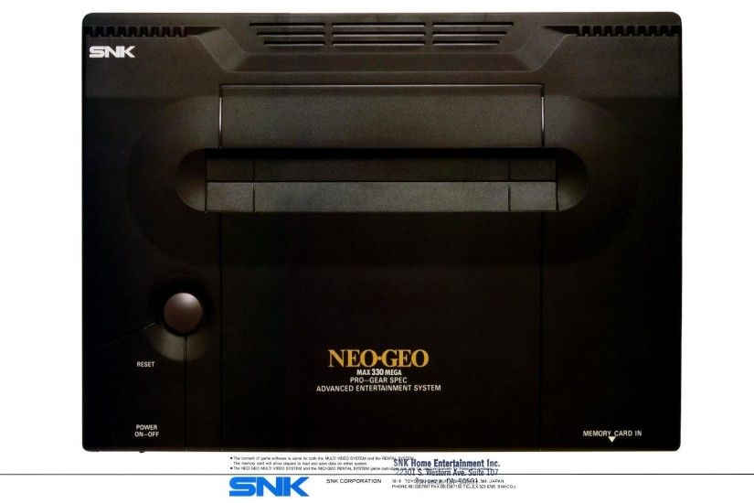 Neo Geo console, top down-view