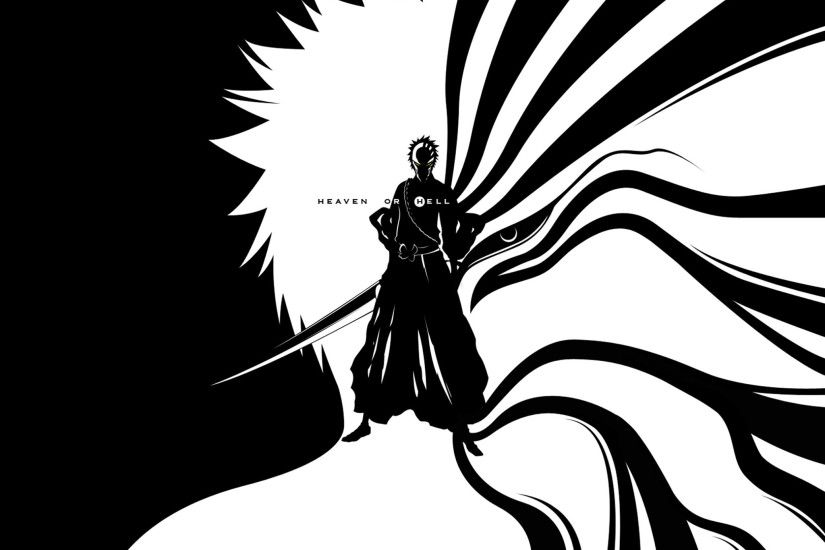 wallpaper black and white · Bleach · Kurosaki Ichigo