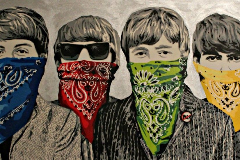 HD The Beatles Drawing Wallpaper.