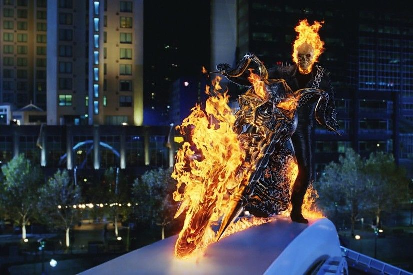 ghost rider ghost rider bike fire skull