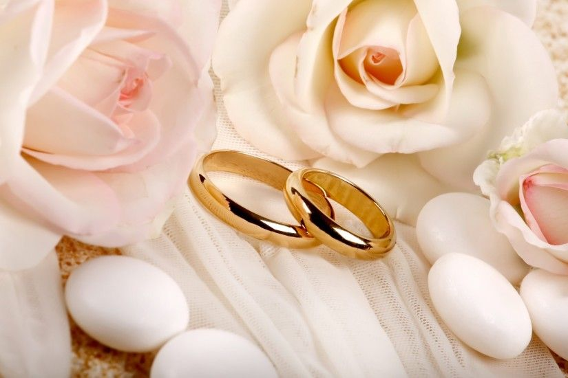 Preview wallpaper rings, wedding, roses, composition 1920x1080
