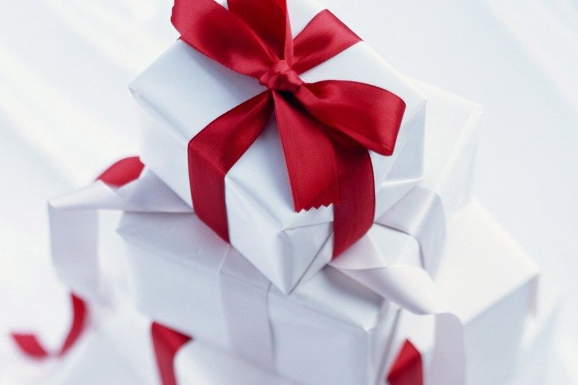 Gift Tag - Presents Pretty Red Delicate Love Forever Sweet Gift White Bows  Nature Boxes Ribbons