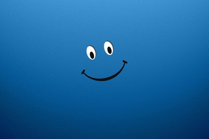 Smiley face cartoon wide desktop wallpapers