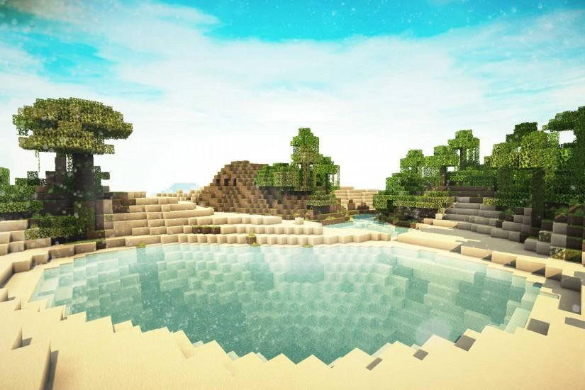 Minecraft with Shaders HD desktop wallpaper : High Definition 1440×837 Minecraft  shaders background (