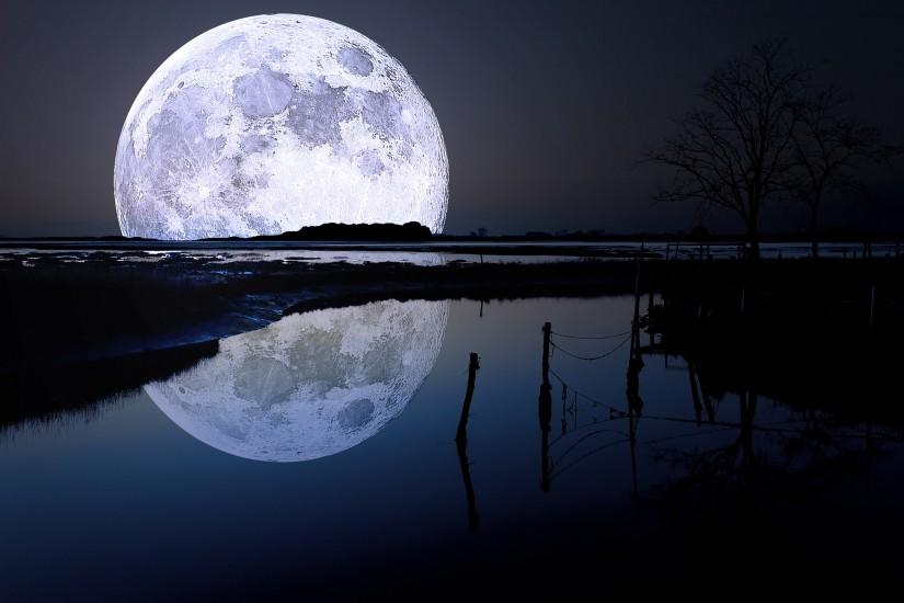 large moon wallpaper 2880x1800 for android tablet
