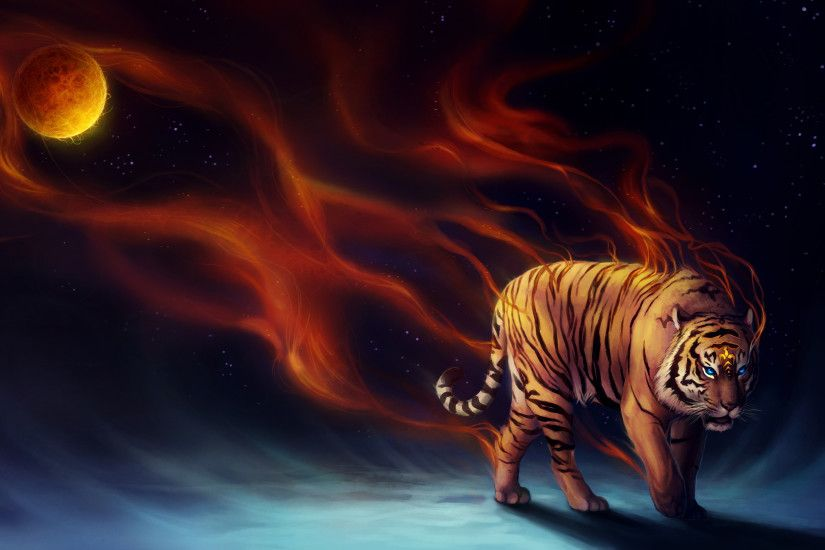 Powerful Tiger Background HD  http://windowsdesktopbackgrounds.com/24505/powerful-