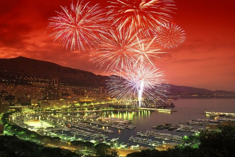 New Year's Eve Fireworks in HD | New Year Monte Carlo Fireworks Wallpaper