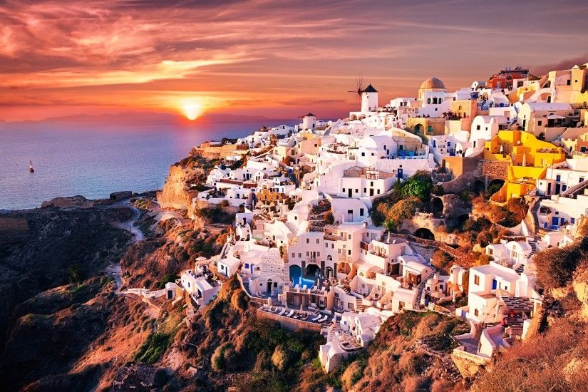 Houses Greece Oia Santorini Cities wallpaper | 2048x1365 | 919894 |  WallpaperUP