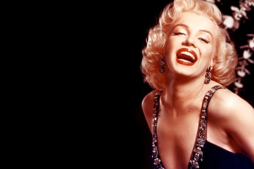 1920x1080 Wallpaper marilyn monroe, girl, mouth, dress, teeth