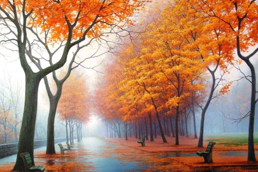 Foggy Tag - Foggy Autumn Nature Wallpaper For Galaxy S3 for HD 16:9 High