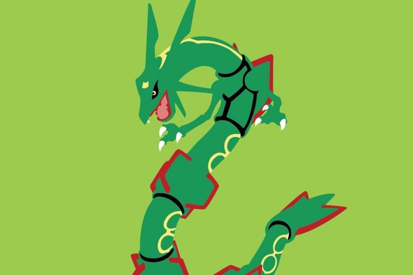 Rayquaza, Anime, Green Background wallpaper thumb