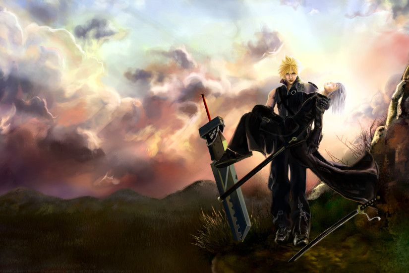 Tags: Anime, Final Fantasy VII, Kadaj, Cloud Strife, 2560x1600 Wallpaper,