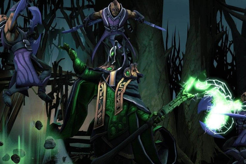 3840x2160 Wallpaper rubick, anti-mage, versus, dota 2