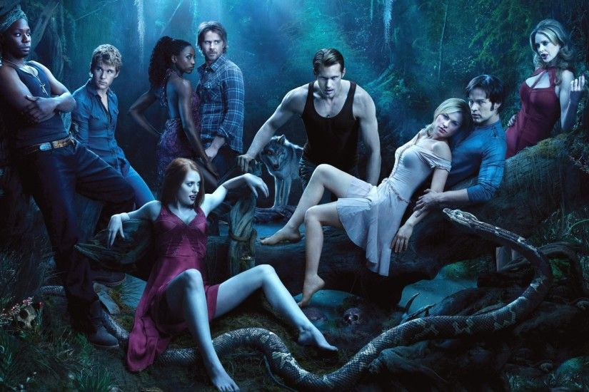 Preview wallpaper true blood, sookie stackhouse, bill compton, eric  northman, sam merlotte