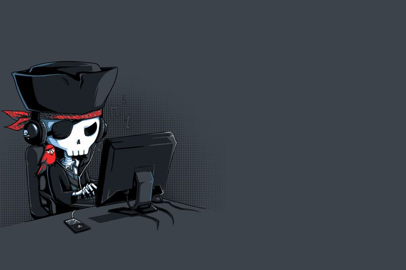 Computers Grey Background Minimalistic Piracy Pirates Simple Skeletons The  Pirate Bay