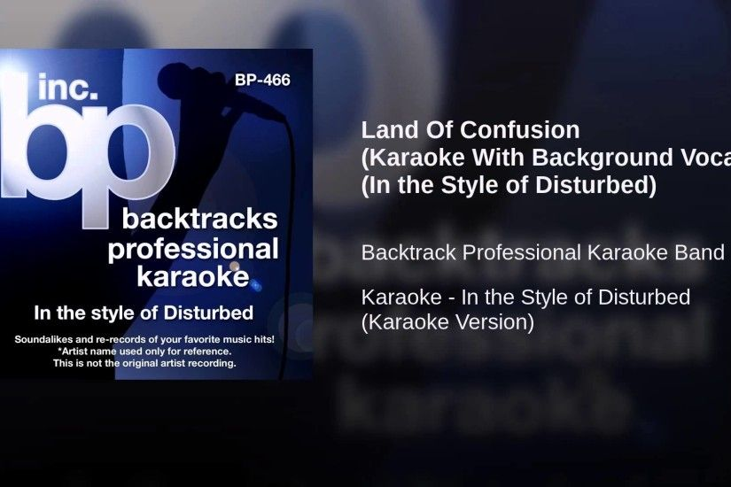 Land Of Confusion (Karaoke With Background Vocals) (In the Style of  Disturbed)