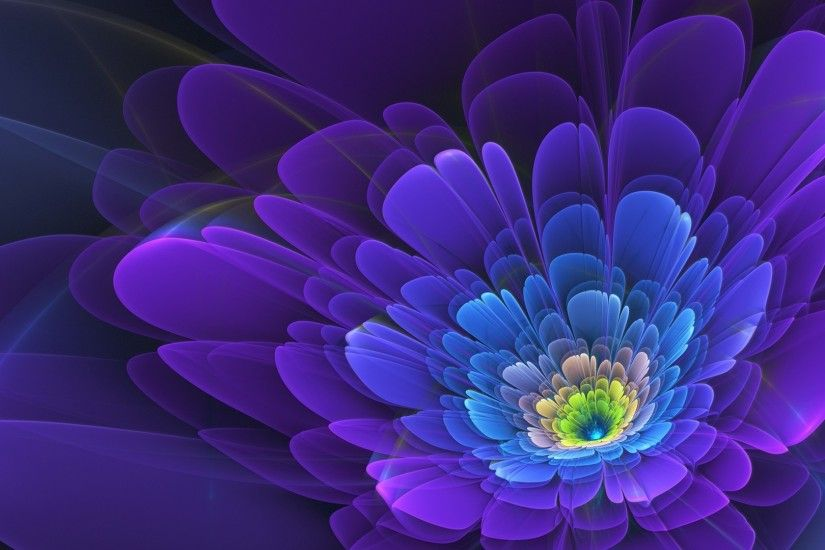 1920x1080 Wallpaper purple, flower, fractal