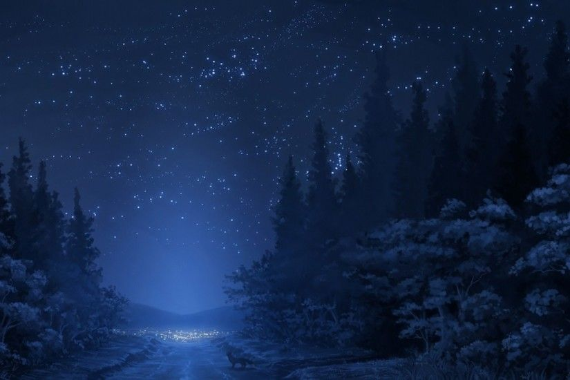 <b>Nighttime forest</b> iPhone 5 <b>wallpaper<