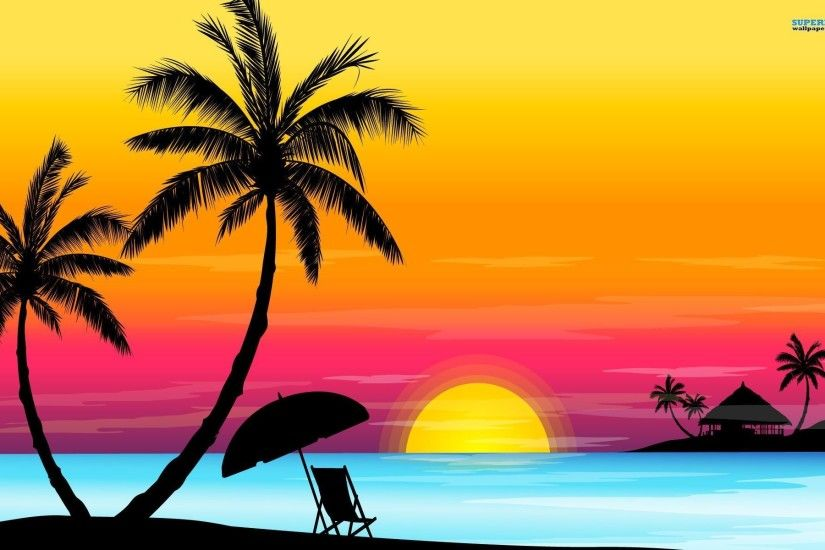pin Sunset clipart beach background #8