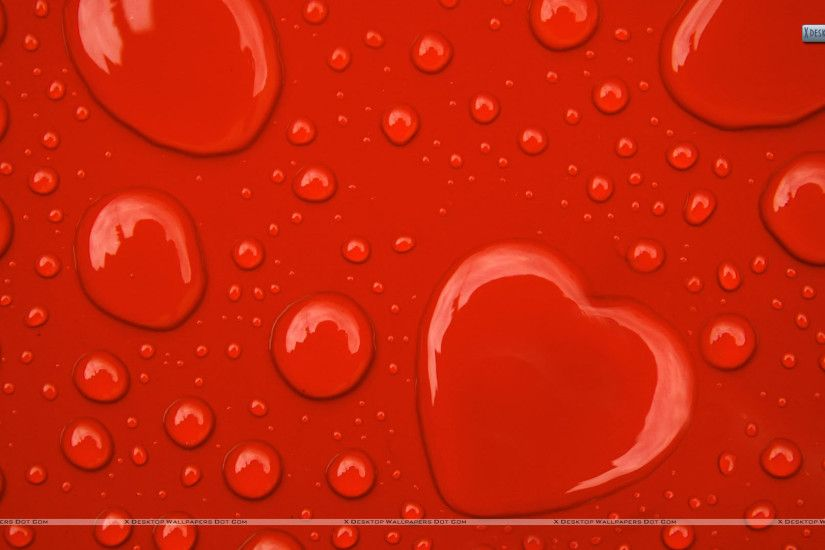 Water Drop Hearts On Red Background Wallpaper Black Wallpaper Red Background  Blackwallpaper Water Drop Hearts Black