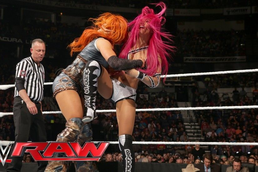 Becky Lynch vs. Sasha Banks - Divas Championship No. 1 Contender's Match:  Raw, February 29, 2016 - YouTube