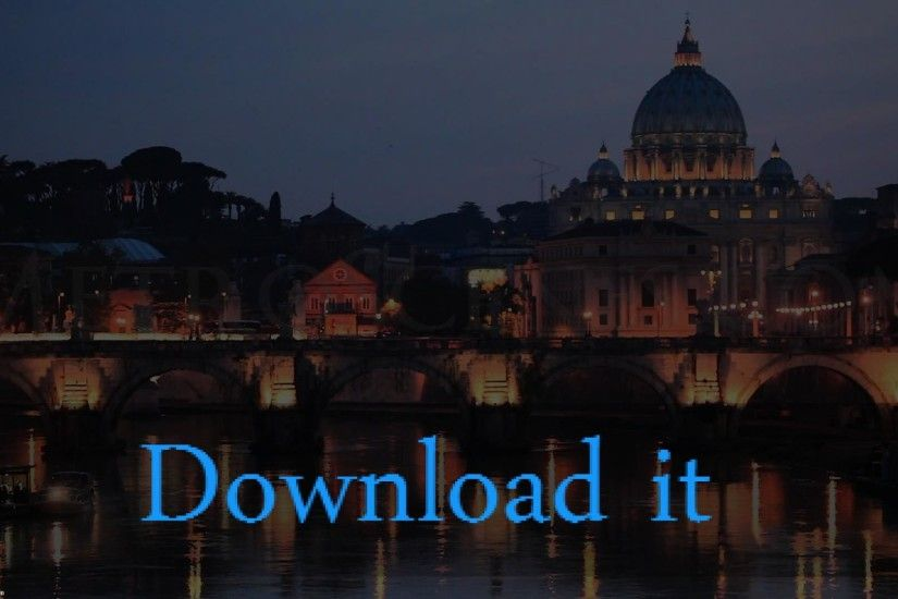 St Peter Cathedral and River Tiger Italy Wallpaper