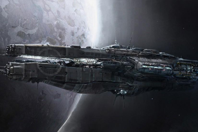 Spaceship Wallpaper Wide Images #an2dck0z