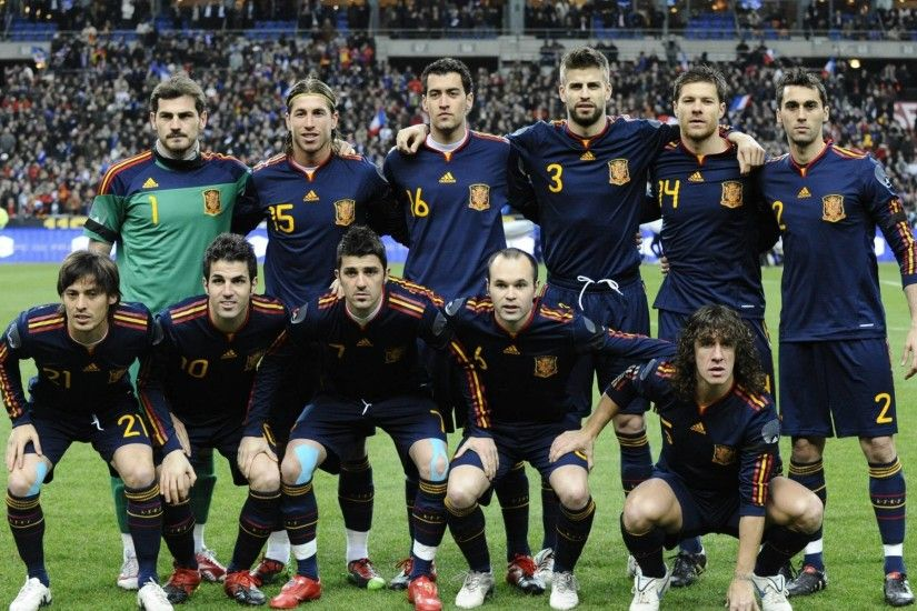 Spain Football Team Squad Wallpaper - Football HD Wallpapers