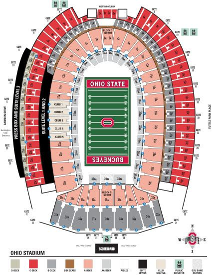 Larger stadium seating diagram for easier viewing!