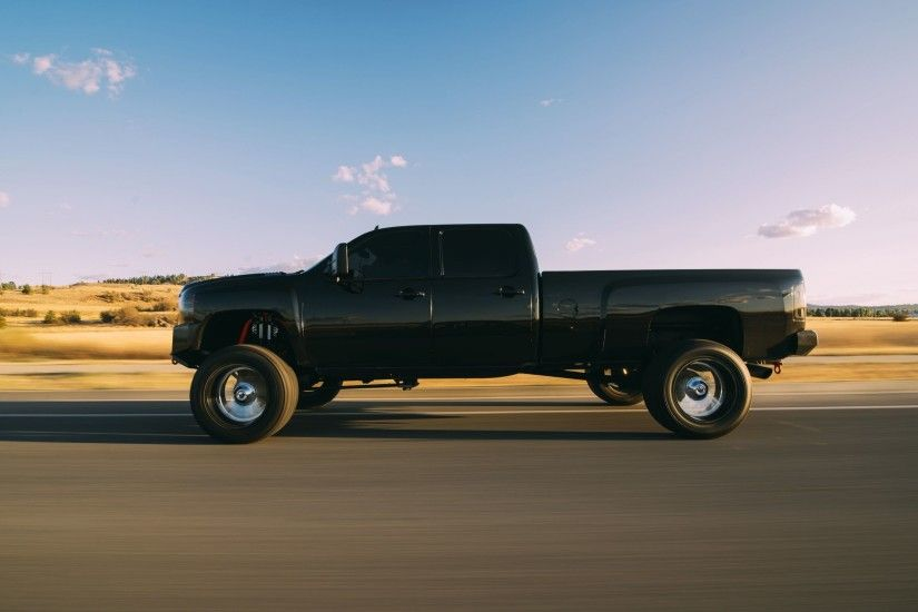 Download wallpapers Cevrolet LMM, Duramax, Black pickup truck, road, speed,  high car for desktop with resolution 2560x1600. High Quality HD pictures ...