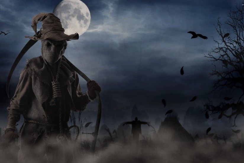 Scary scarecrow wallpaper