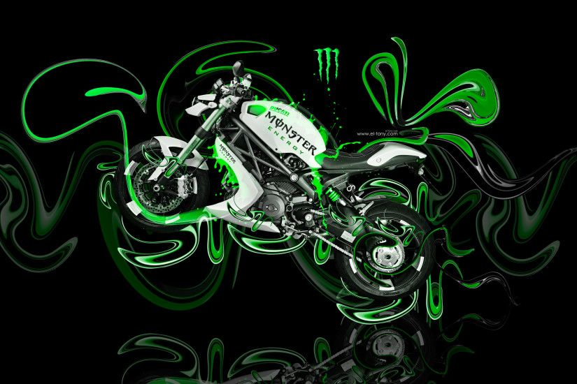 Monster Energy Logo Style Moto Ducati Bulgari Side Super Plastic Art Bike  2017