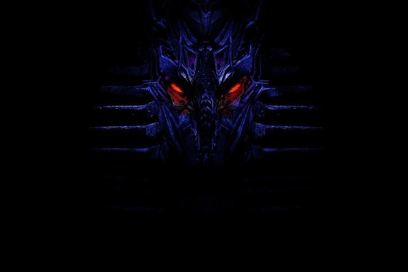 Sci Fi - Transformers Blue Dark Red Glow Wallpaper
